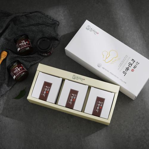 [신지식인] 특허받은 산꿀,자연송이 세트 110gx3병(유리병)이식사