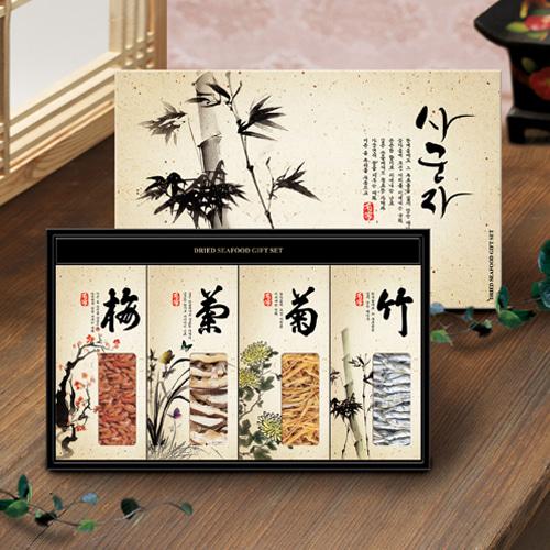 [名家] 명품 사군자 멸치,새우,황태,표고버섯 세트이식사