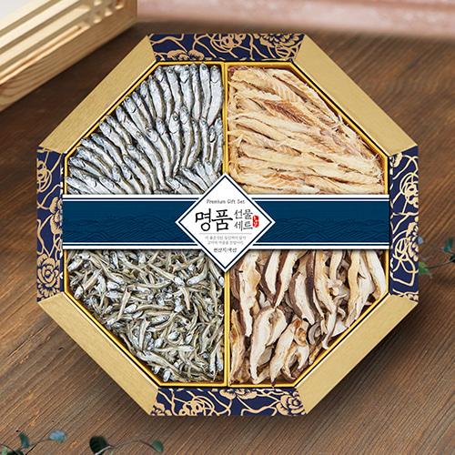 [名家] 팔각한지함 멸치,황태,표고버섯 선물세트 1호이식사