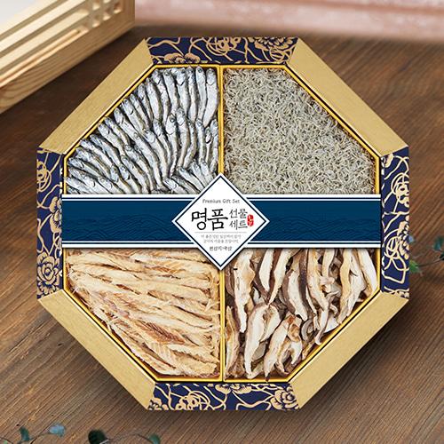 [名家] 팔각한지함 멸치,황태,표고버섯 선물세트 2호이식사
