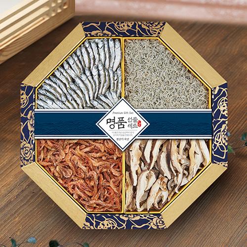 [名家] 팔각한지함 멸치,새우,표고버섯 선물세트 1호이식사