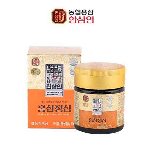 ★특가★[한삼인] 6년근 고려 홍삼정심 100g(병)