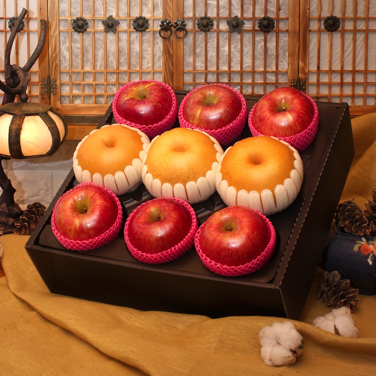 [시골농부] 사과,배 명품 혼합세트/4kg이식사