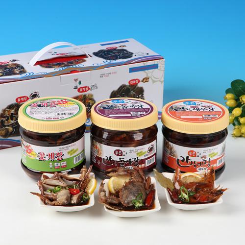 [동의비첩] 깔끔한 참맛 간장양념 선물세트(꽃게,돌게,새우)이식사