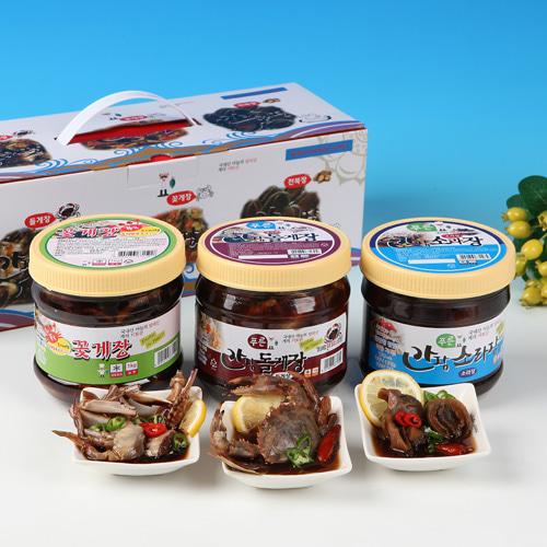 [동의비첩] 깔끔한 참맛 간장양념 선물세트(꽃게,돌게,소라)이식사