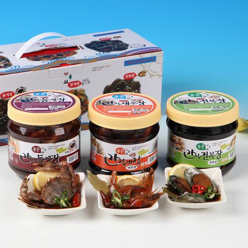 [동의비첩] 깔끔한 참맛 간장양념 선물세트(돌게,새우,전복)이식사