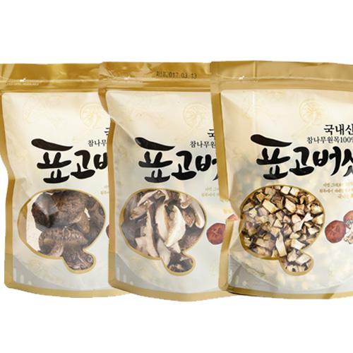 [참나무] 햇살담은 표고버섯 3종(원형,슬라이스,깍둑썰기)