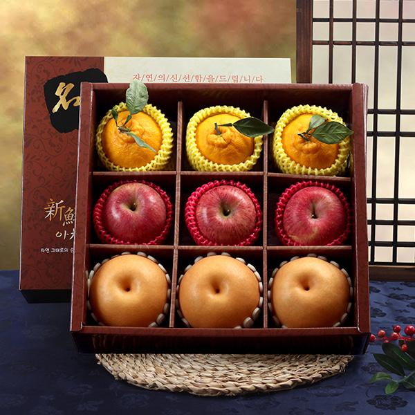 [명품사각] 사과,배,한라봉 VIP 혼합세트/4.2kg이식사