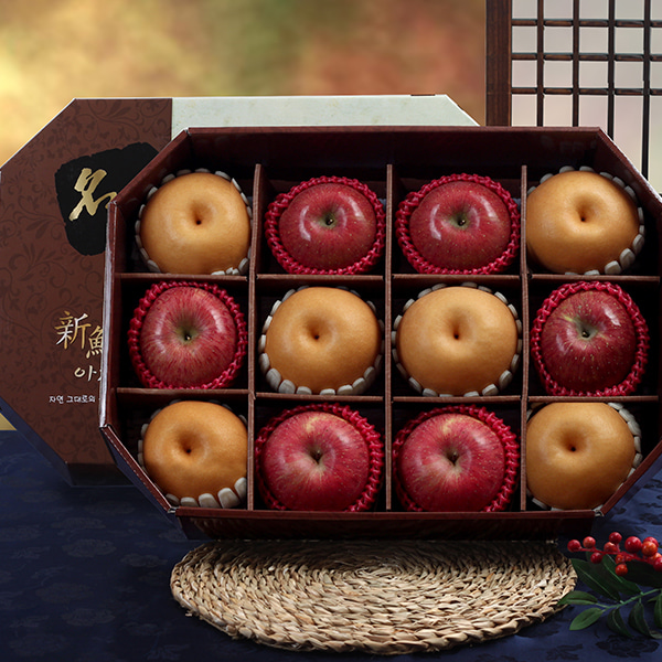 [Gift Two] 명품팔각 실속 햇사과,배 세트/5kg