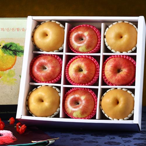[명품사각] 사과,배 VIP 혼합세트(특)/4.7kg(9과)이식사