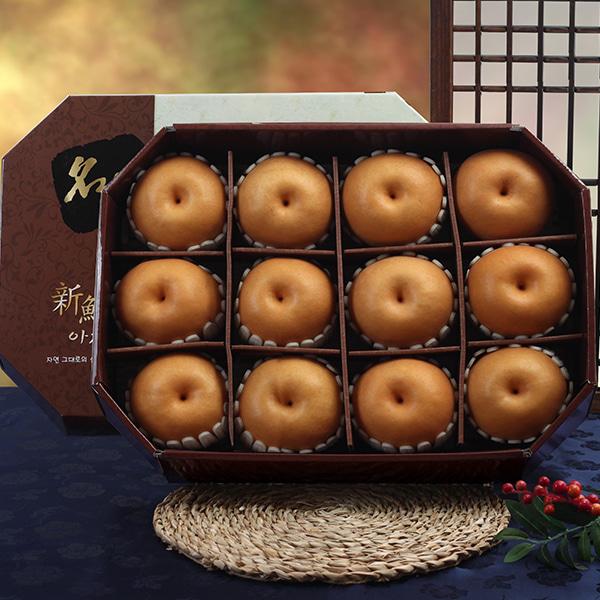 [명품팔각] 신고배 프리미엄 세트/7.5kg(12과)이식사