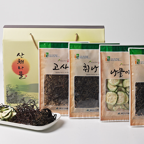 [자연담은] 햇살가득 산채나물 4종 1호이식사