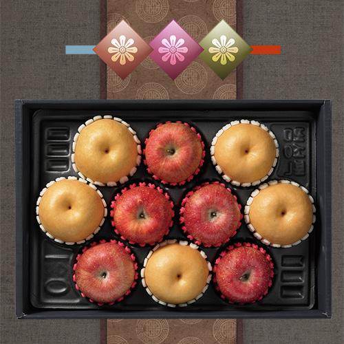 [햇살담은] 자연농부 사과,배 혼합 5.5kg이식사