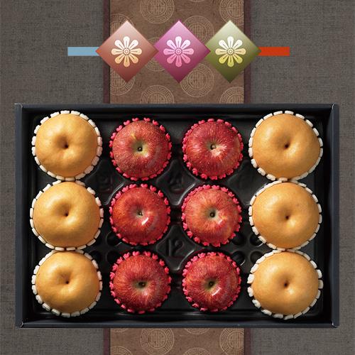 [햇살담은] 자연농부 사과,배 혼합 6kg이식사